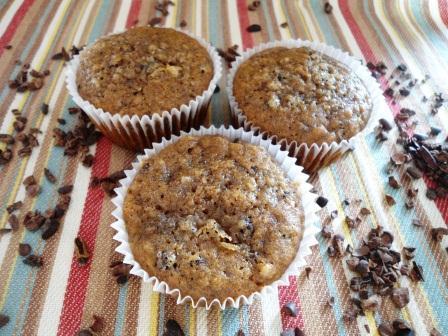 Muffins de Café y Plátano con Nibs de Cacao