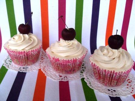 Cupcakes de Cerezas Asadas