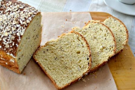 Pan de Miel, Avena y Linaza