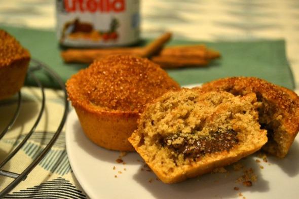 Muffins de Canela rellenos con Nutella