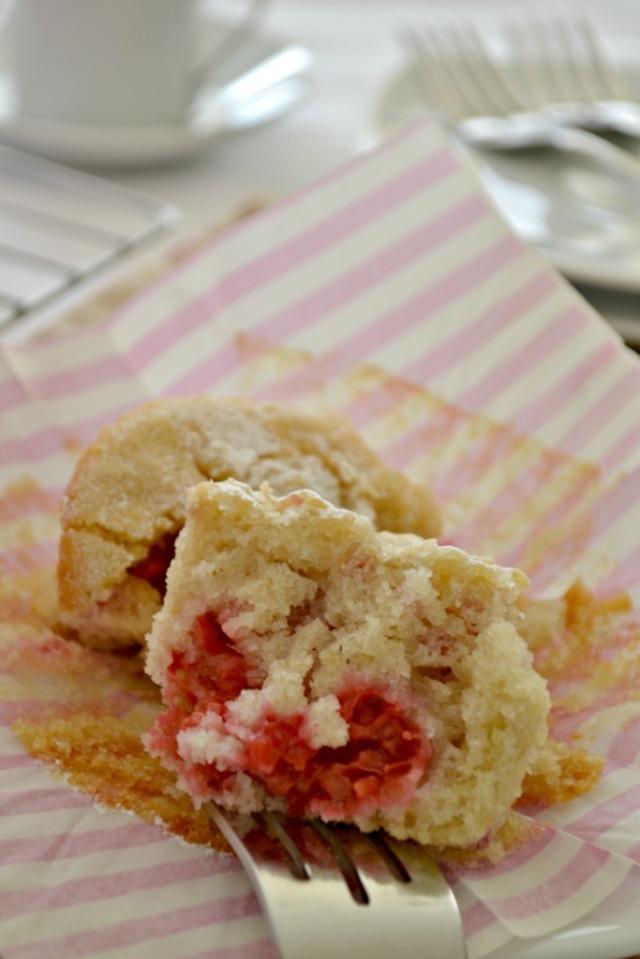 Muffins de Frambuesa y Kion sin Gluten