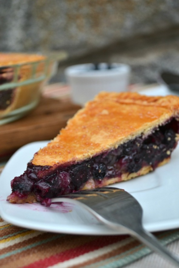 Pie de Blueberry