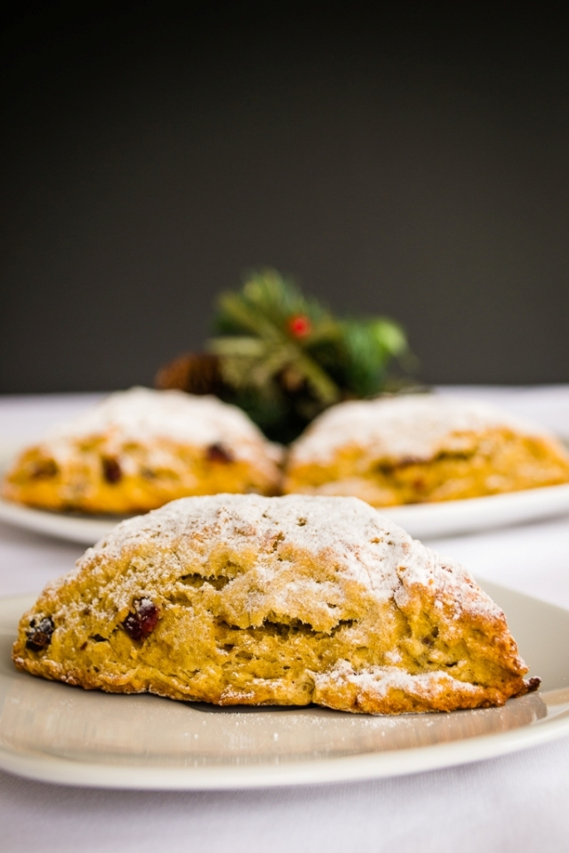 Scones de Calabaza y Cranberries