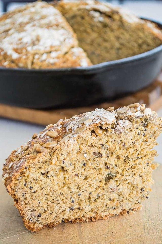 Pan Integral con semillas, sin levadura